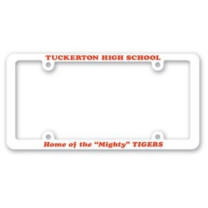 Four Hole Plastic License Frame